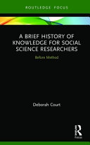 A Brief History of Knowledge for Social Science Researchers