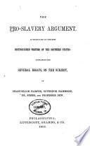 The Pro Slavery Argument Book