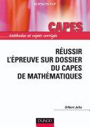 Pdf Réussir l'épreuve sur dossier du Capes de Mathématiques Telecharger