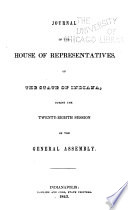 Journal Of The Indiana State Senate Of The General Assembly