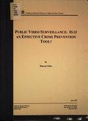 Public Video Surveillance
