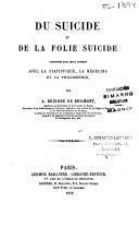 Du suicide et de la folie suicide
