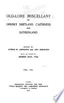 Old-lore Miscellany of Orkney, Shetland, Caithness and Sutherland ...