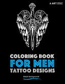 Coloring Book For Men  Tattoo Designs