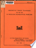 Radioactive Tracer Techniques as an Aid in Resolving Sedimentation Problems Book