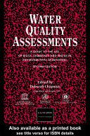 Water Quality Assessments Pdf/ePub eBook