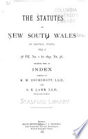 The Statutes of New South Wales  public and Private  Passed During the Year     with Detailed Index