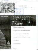 Congressional Research Service Review