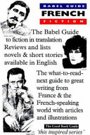 The Babel Guide to French Fiction in English Translation