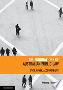 Cover of The Foundations of Australian Public Law