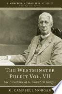 The Westminster Pulpit vol  VII