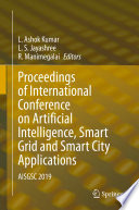 Proceedings of International Conference on Artificial Intelligence  Smart Grid and Smart City Applications