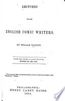 Lectures on the English Comic Writers