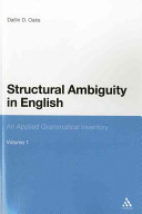 Cover of Structural Ambiguity in English