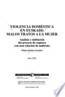 Violencia doméstica en Euskadi