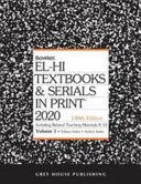 EL HI TEXTBOOKS   SERIALS IN PRINT   2 VOLUME SET 2020