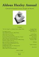 Aldous Huxley Annual Pdf/ePub eBook