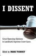 I Dissent