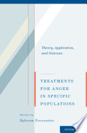 Treatments for Anger in Specific Populations Book