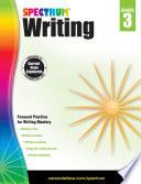 """Spectrum Writing, Grade 3"" by Spectrum"