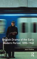 English Drama of the Early Modern Period 1890-1940