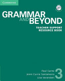 Grammar and Beyond Level 3 Teacher Support Resource Book with CD ROM