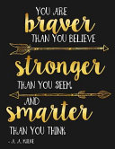 You Are Braver Than You Believe and Stronger Than You Seem and Smarter Than You Believe A  A  Milne