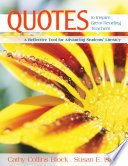 Quotes to Inspire Great Reading Teachers  : A Reflective Tool for Advancing Students' Literacy