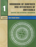 Handbook of Surfaces and Interfaces of Materials: Surface and interface phenomena