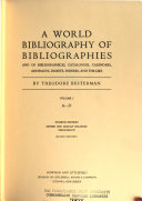 A World Bibliography of Bibliographies