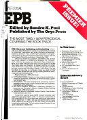 Electronic Publishing and Bookselling