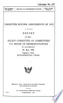 Committee reform amendments of 1974
