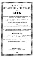 McElroy's Philadelphia Directory, for 1855