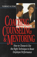 Coaching  Counseling   Mentoring