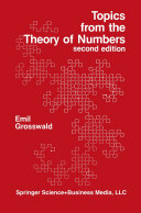 Topics from the Theory of Numbers Book