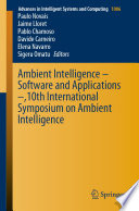 Ambient Intelligence     Software and Applications     10th International Symposium on Ambient Intelligence