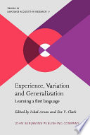 Experience Variation And Generalization