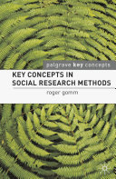 Pdf Key Concepts in Social Research Methods