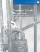 Corporate Security Management Book