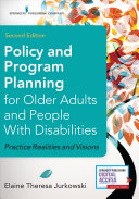 Cover of Policy and Program Planning for Older Adults and People with Disabilities