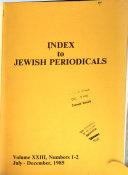 Index to Jewish Periodicals