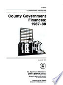 County Government Finances in