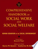 Comprehensive Handbook Of Social Work And Social Welfare Human Behavior In The Social Environment