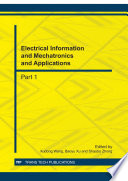 Electrical Information and Mechatronics and Applications
