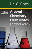 A-Level Chemistry Flash Notes Edexcel Year 2