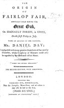 The Origin of Fairlop Fair  Annually Held Round the Great Oak  on Hainault Forest     With an Account of the Founder  D  Day  The Second Edition