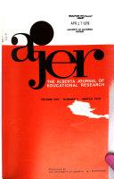 Alberta Journal of Educational Research