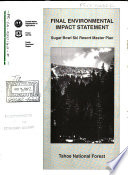 Tahoe National Forest  N F    Sugar Bowl Ski Resort Master Plan Book