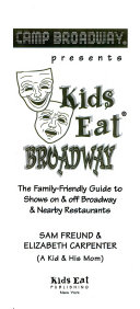 Camp Broadway Presents Kids Eat Broadway