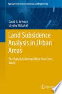 Land Subsidence Analysis in Urban Areas
